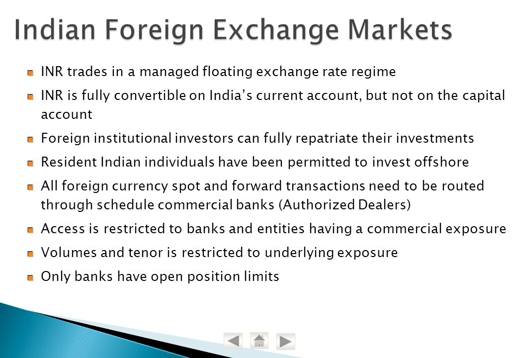 Indian Foreign Exchange Markets