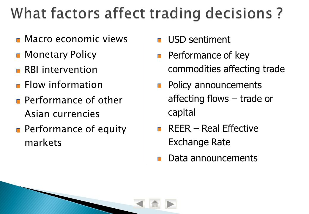 What factors affect trading decisions