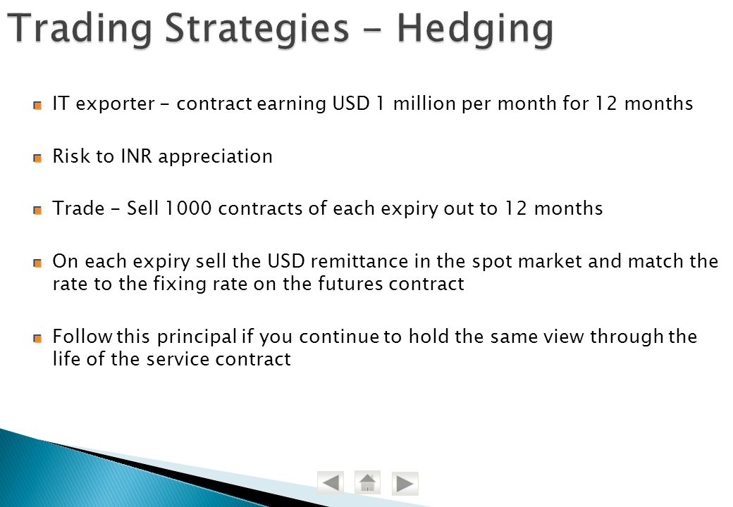Trading Strategies - Hedging