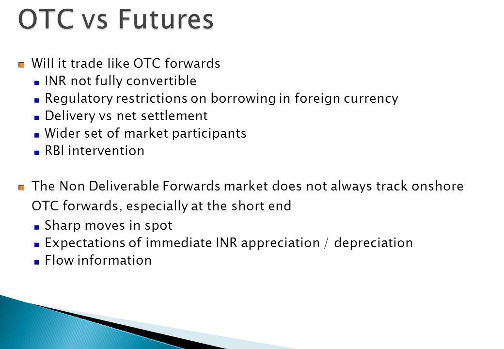 OTC vs Futures Will it trade like OTC forwards