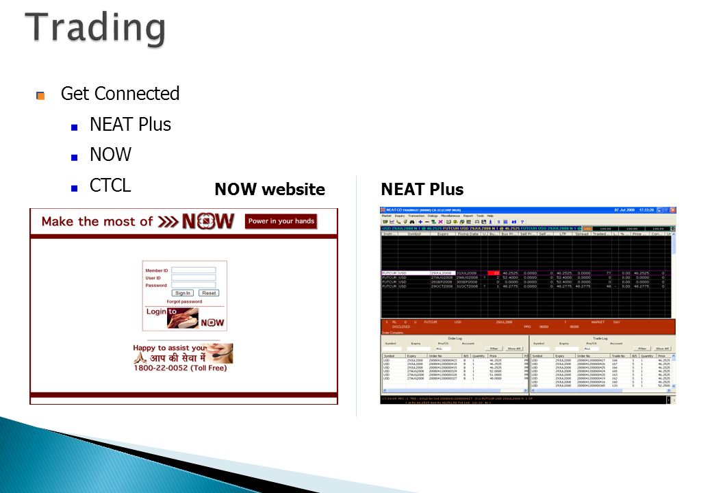 Trading Get Connected NEAT Plus NOW CTCL NOW website NEAT Plus