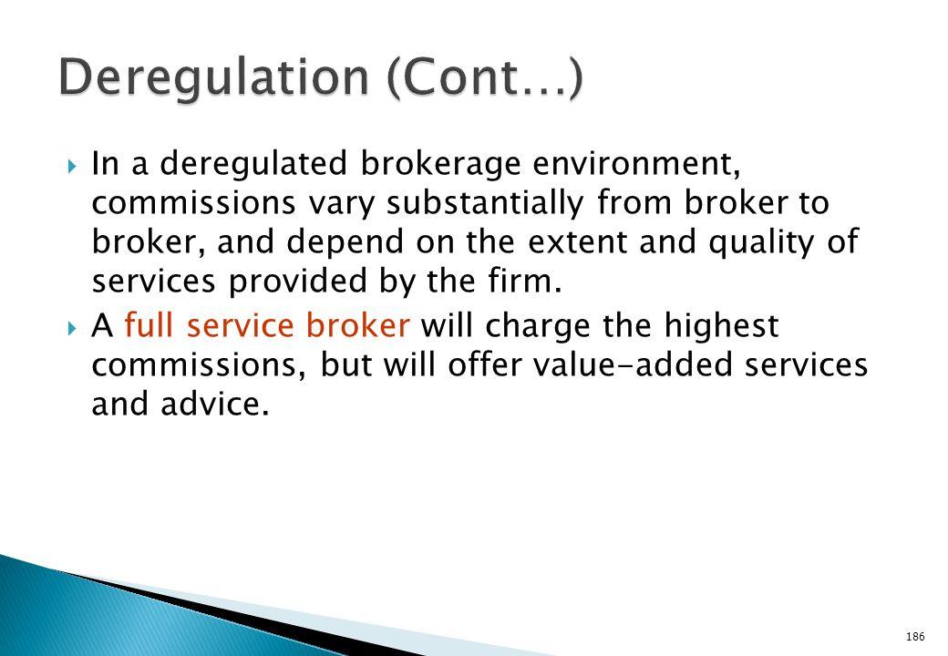 Deregulation (Cont…)