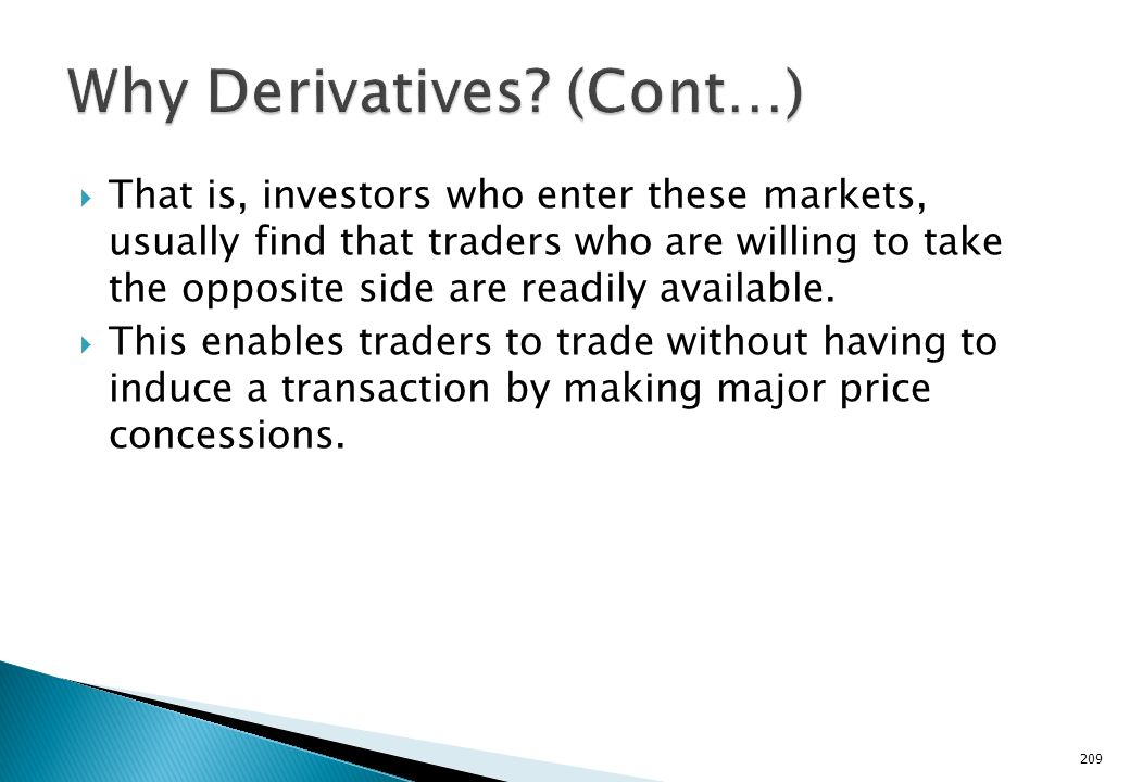 Why Derivatives (Cont…)