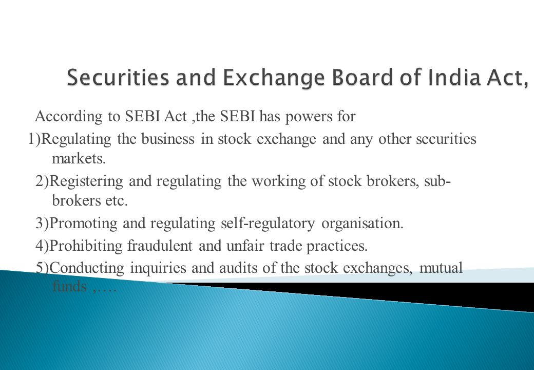 Securities and Exchange Board of India Act,