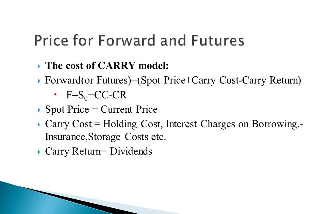 Price for Forward and Futures