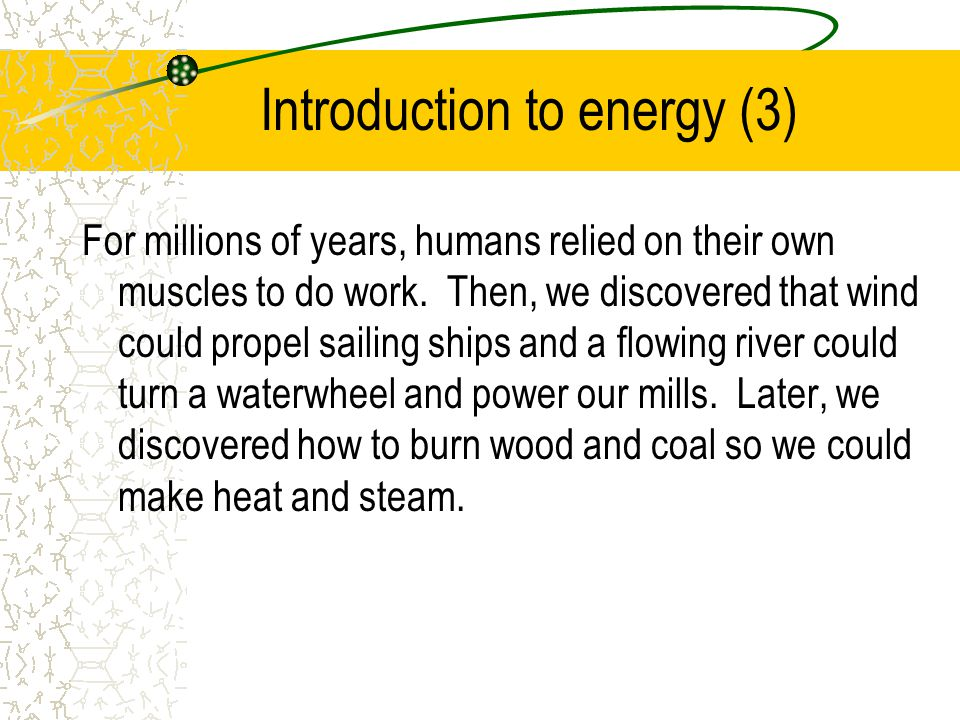 Introduction to energy (3)