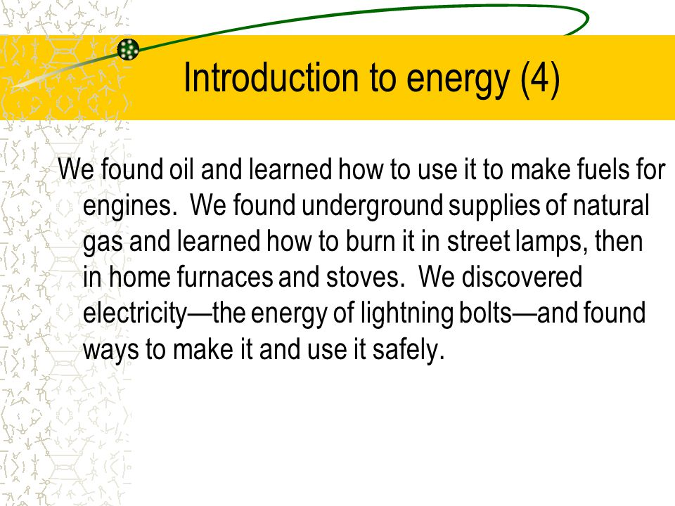 Introduction to energy (4)