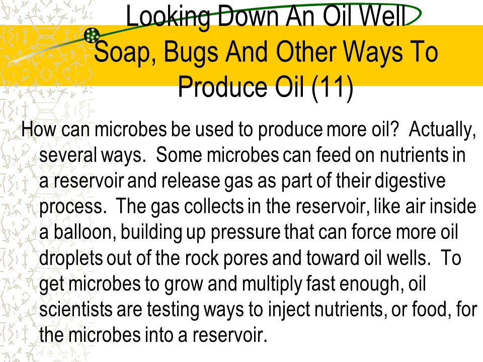 Looking Down An Oil Well Soap, Bugs And Other Ways To Produce Oil (11)