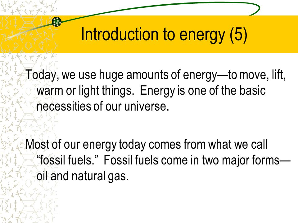 Introduction to energy (5)