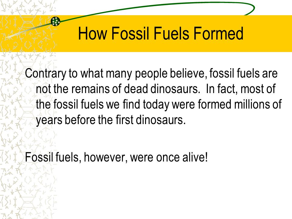 How Fossil Fuels Formed