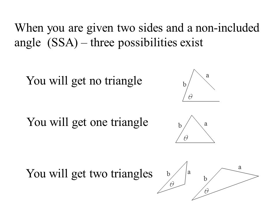 You will get no triangle
