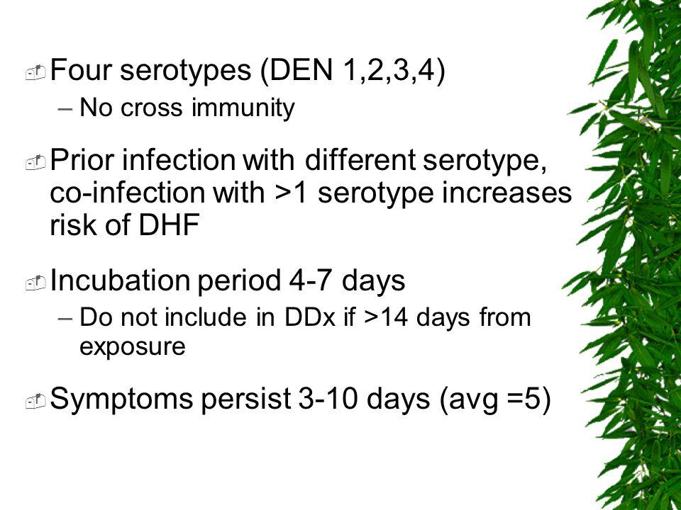 Incubation period 4-7 days