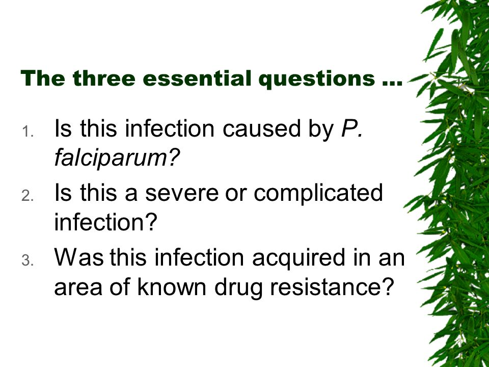The three essential questions …