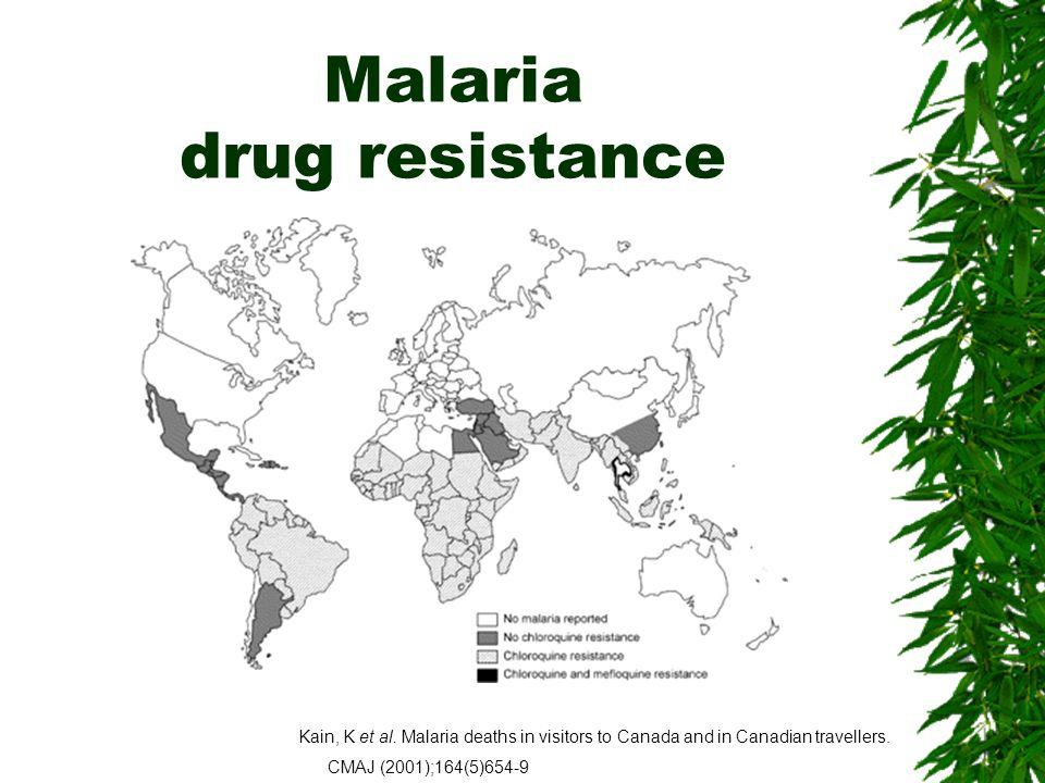 Malaria drug resistance