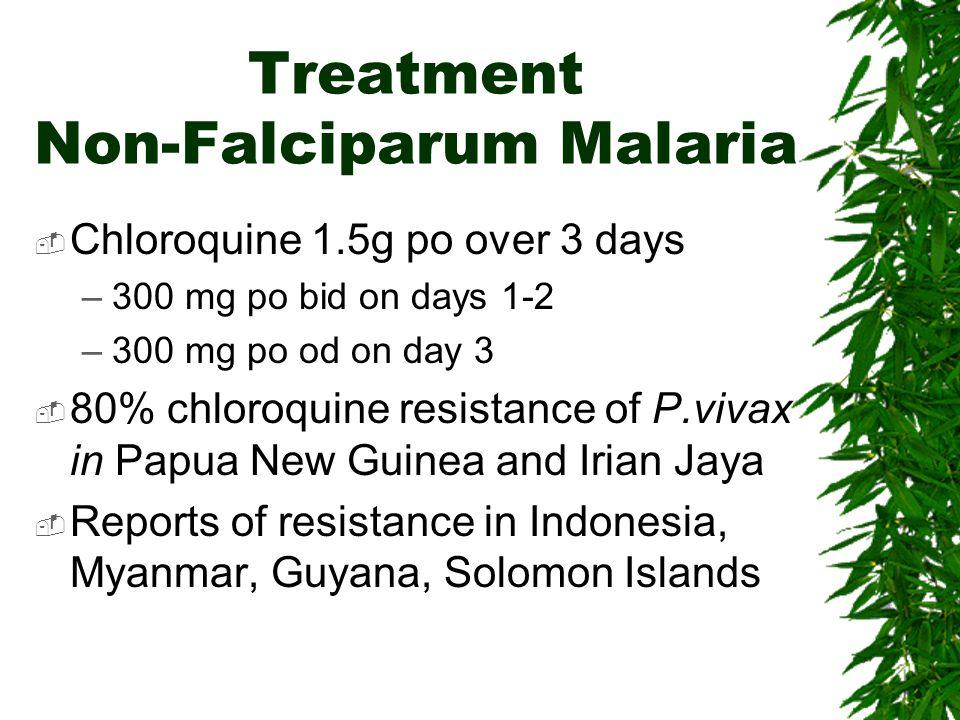 Treatment Non-Falciparum Malaria