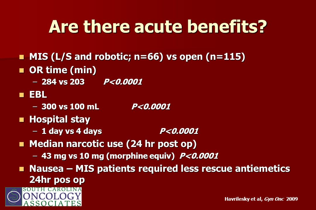 Are there acute benefits