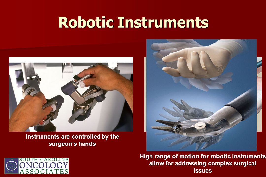 Instruments are controlled by the surgeon's hands
