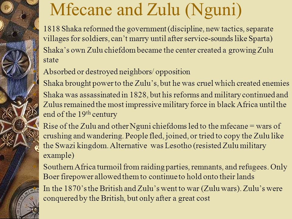 Mfecane and Zulu (Nguni)