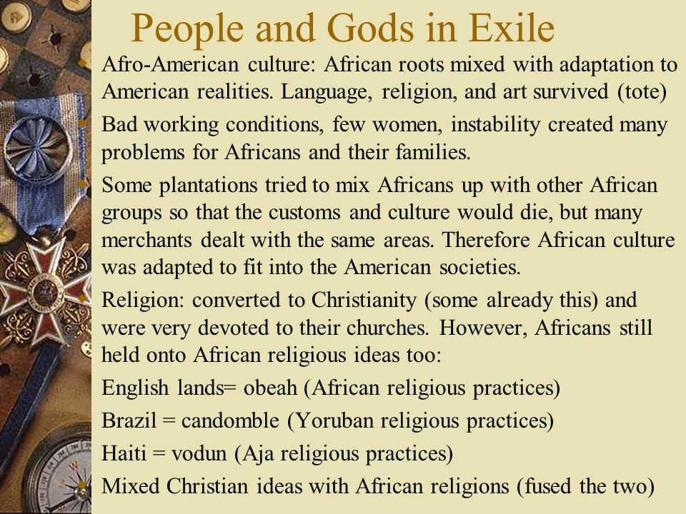 People and Gods in Exile