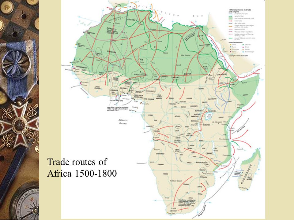 Trade routes of Africa 1500-1800