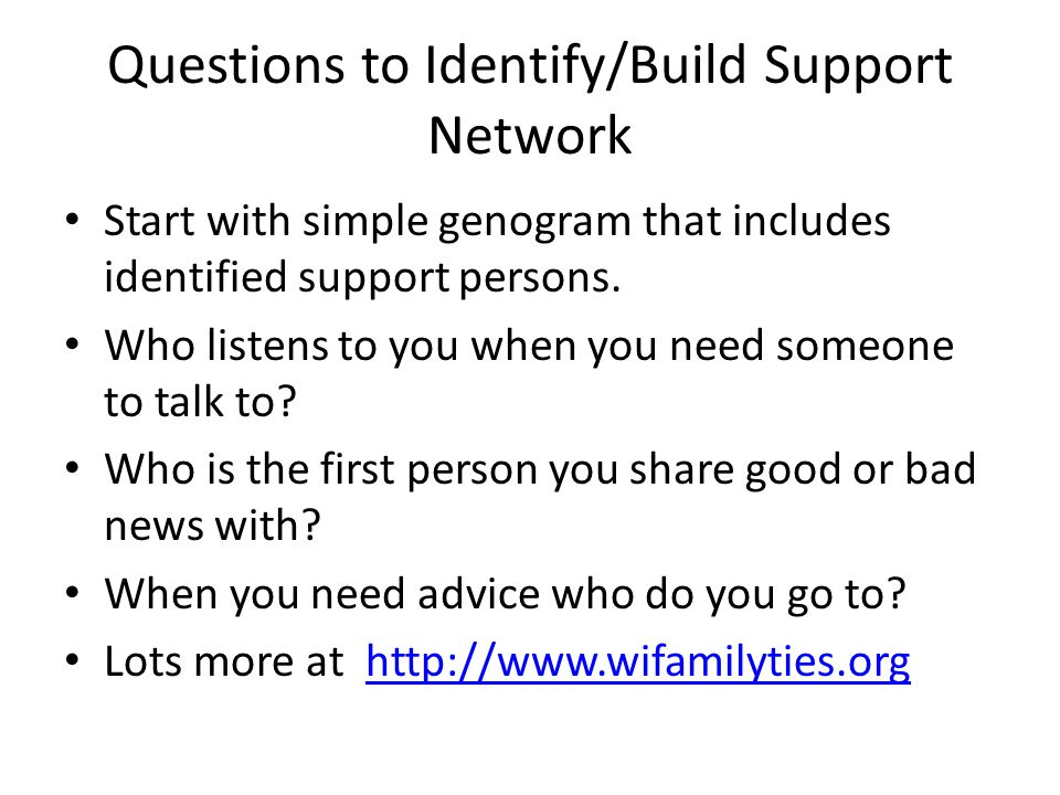 how to build a support network