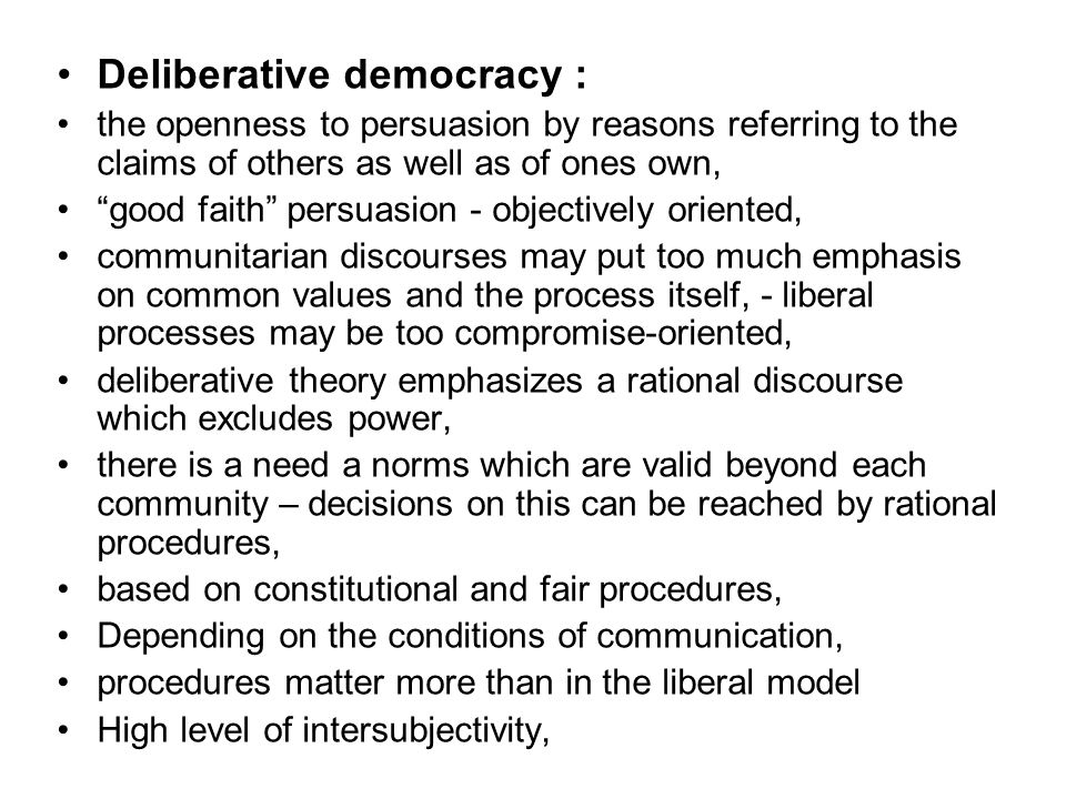 Deliberative democracy :