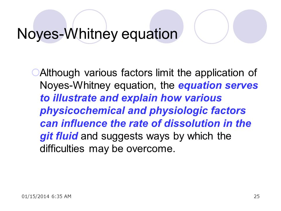 Noyes-Whitney equation