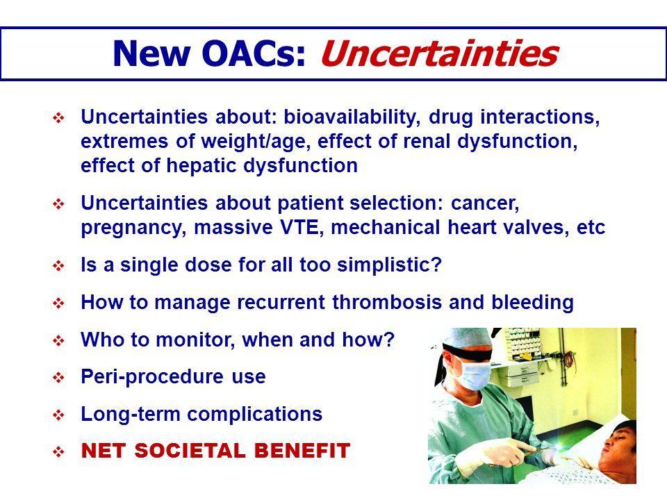 New OACs: Uncertainties
