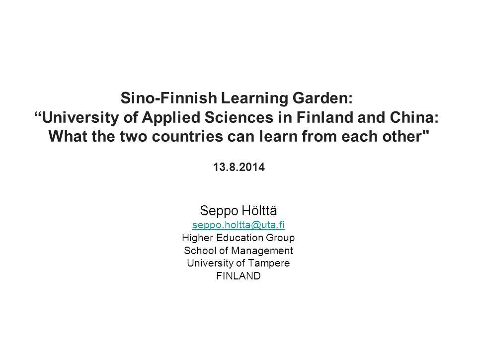 Sino-Finnish Learning Garden: