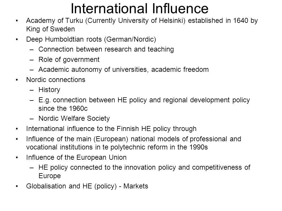 International Influence