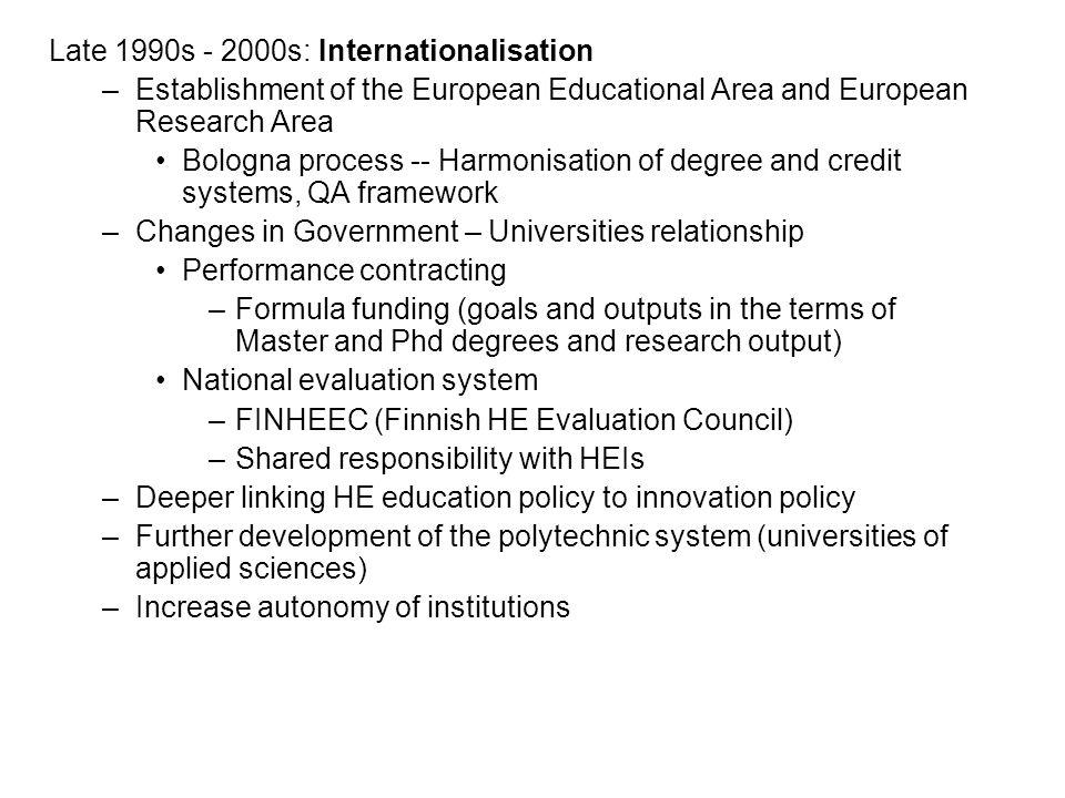 Late 1990s - 2000s: Internationalisation