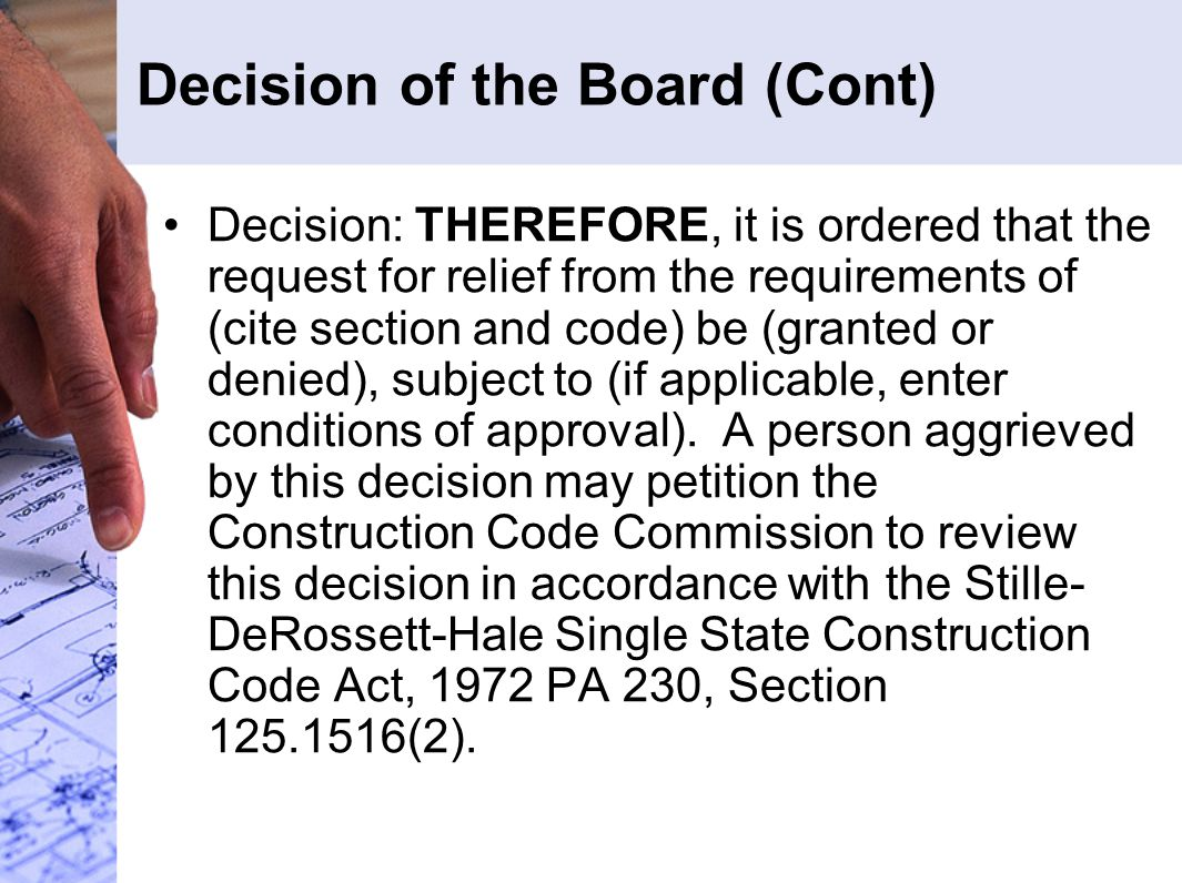 Decision of the Board (Cont)
