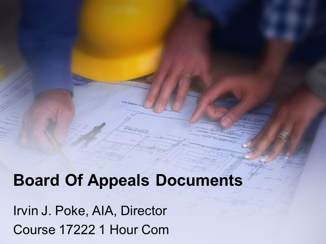 Board Of Appeals Documents