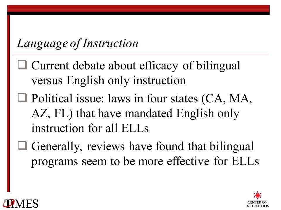 Language of Instruction
