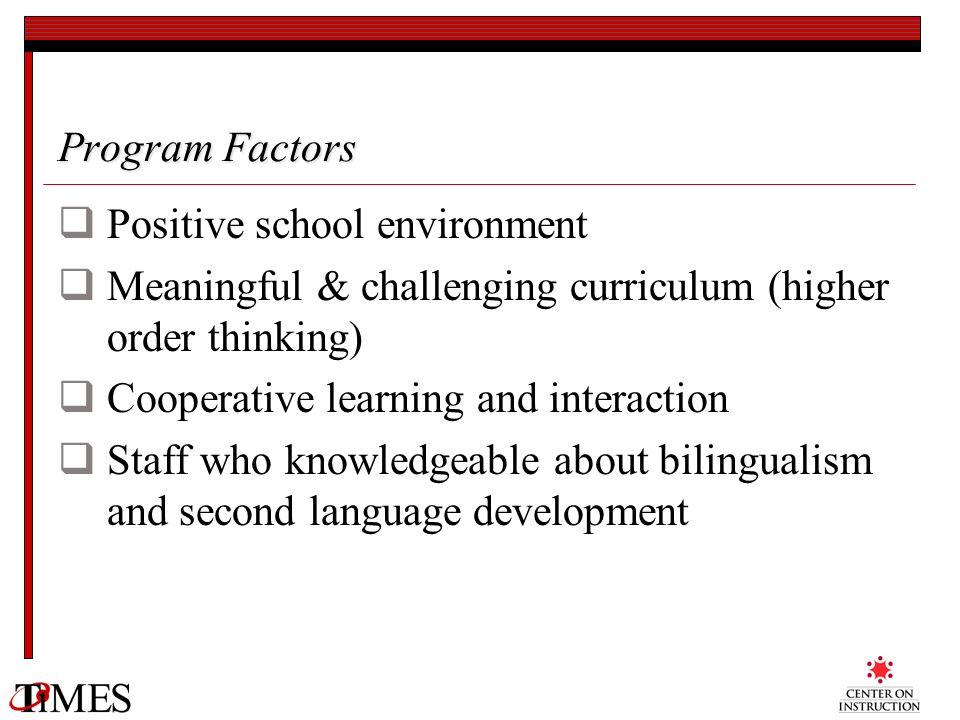 Positive school environment