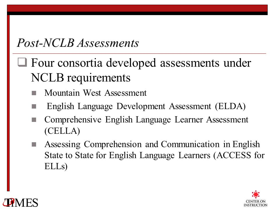 Post-NCLB Assessments