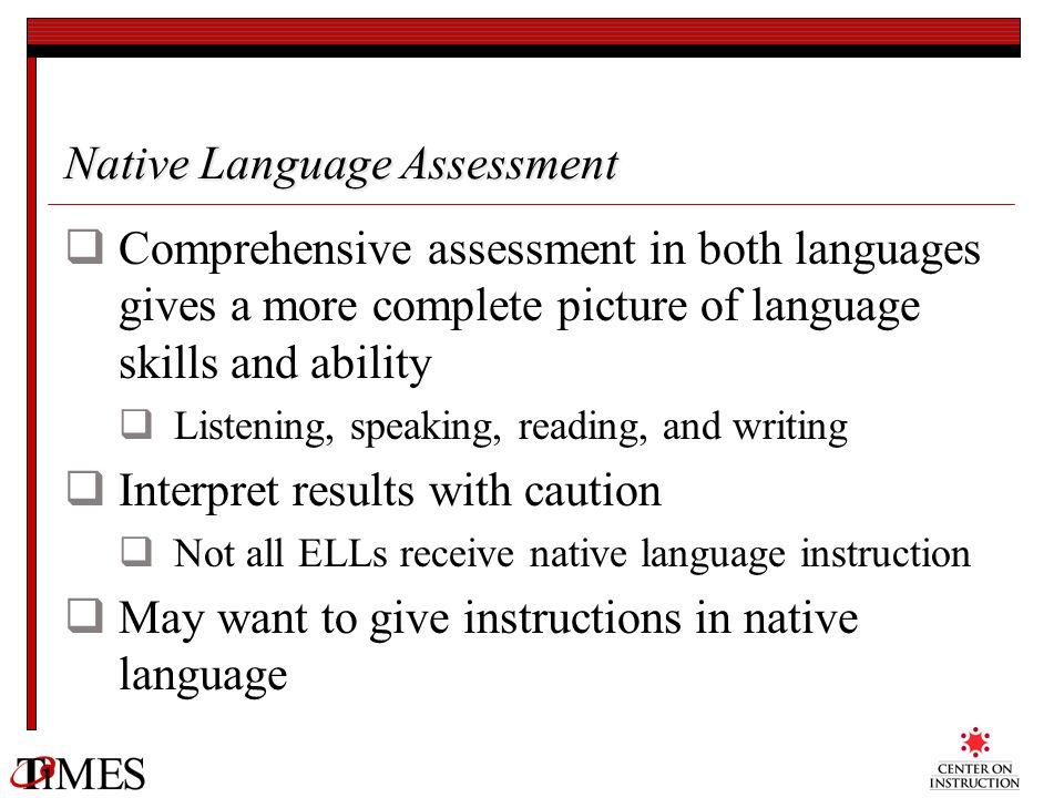 Native Language Assessment