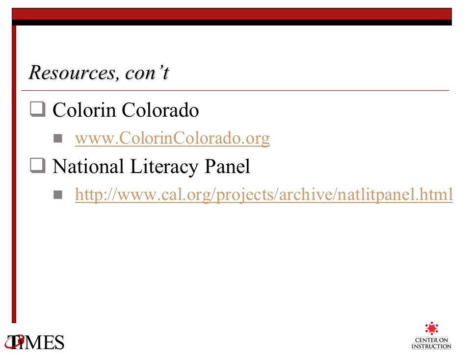 National Literacy Panel