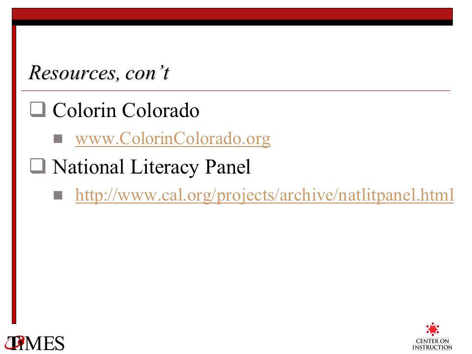 National Literacy Panel