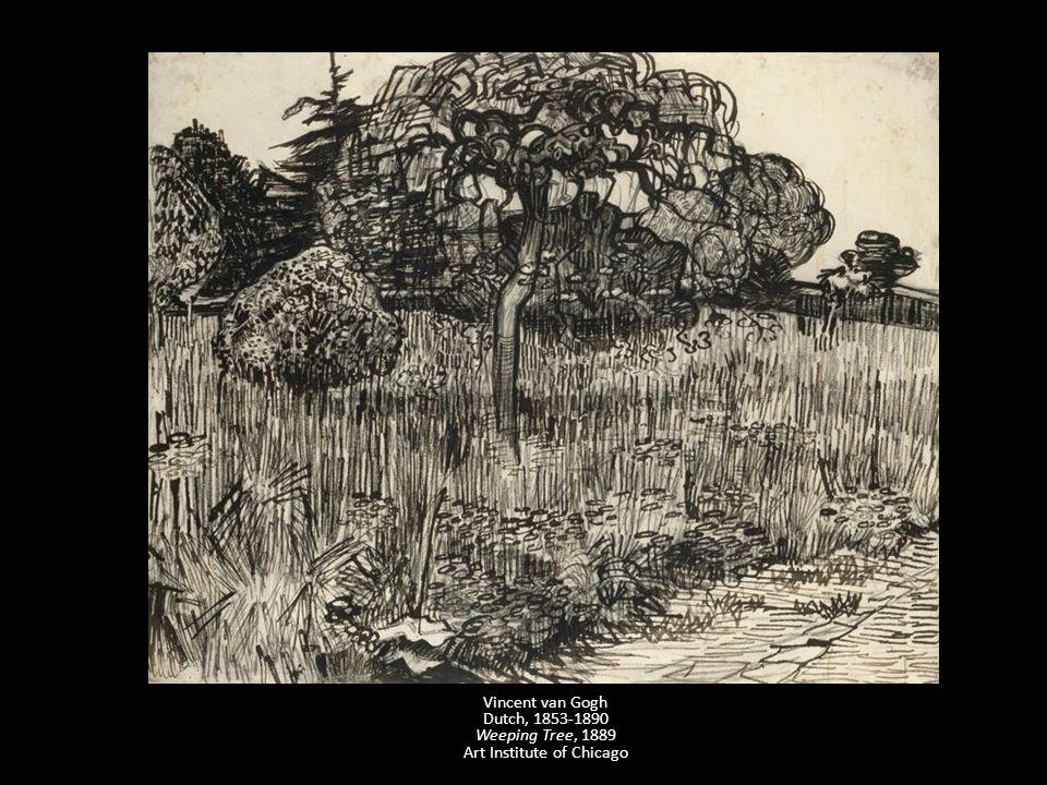 Vincent van Gogh Dutch, 1853-1890 Weeping Tree, 1889 Art Institute of Chicago