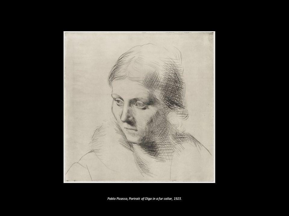 Pablo Picasso, Portrait of Olga in a fur collar, 1923.