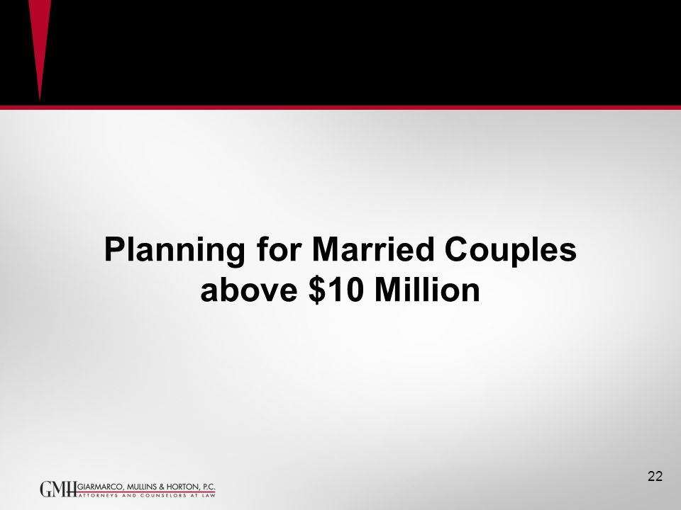 Planning for Married Couples above $10 Million