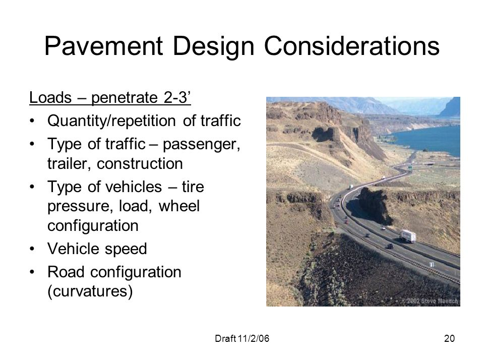 Pavement Design Considerations