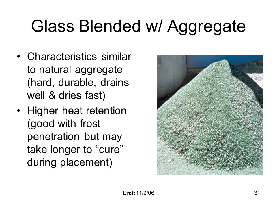 Glass Blended w/ Aggregate