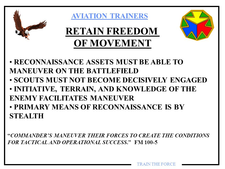 RETAIN FREEDOM OF MOVEMENT