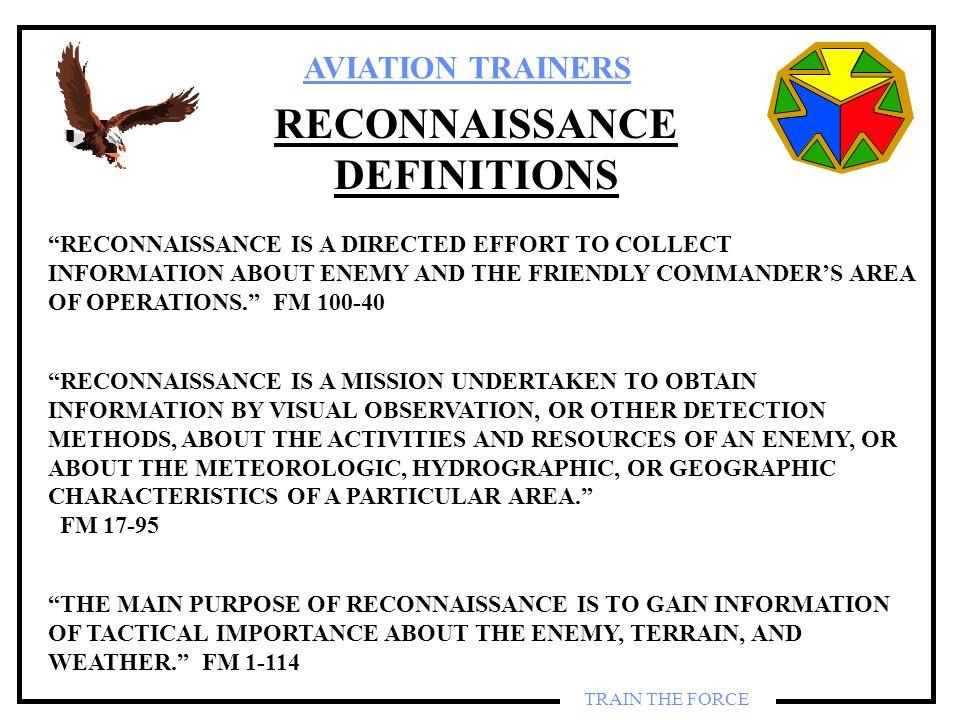RECONNAISSANCE DEFINITIONS