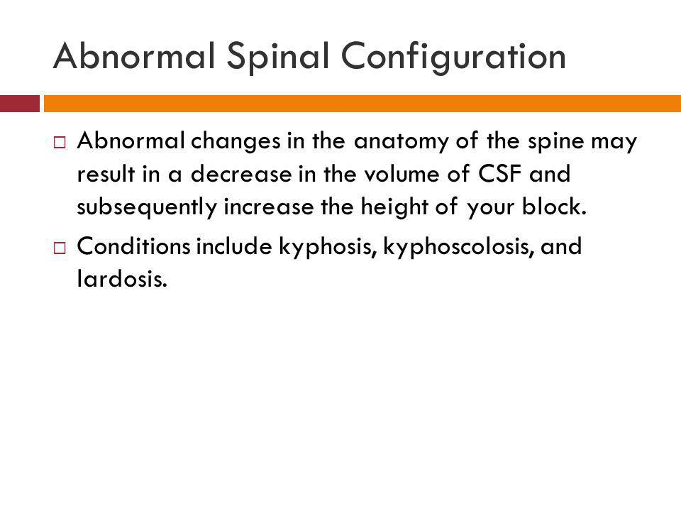 Abnormal Spinal Configuration