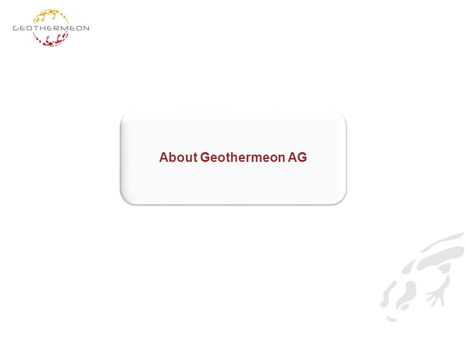 About Geothermeon AG