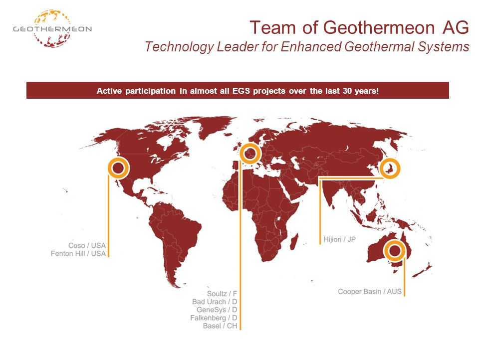 Team of Geothermeon AG Technology Leader for Enhanced Geothermal Systems