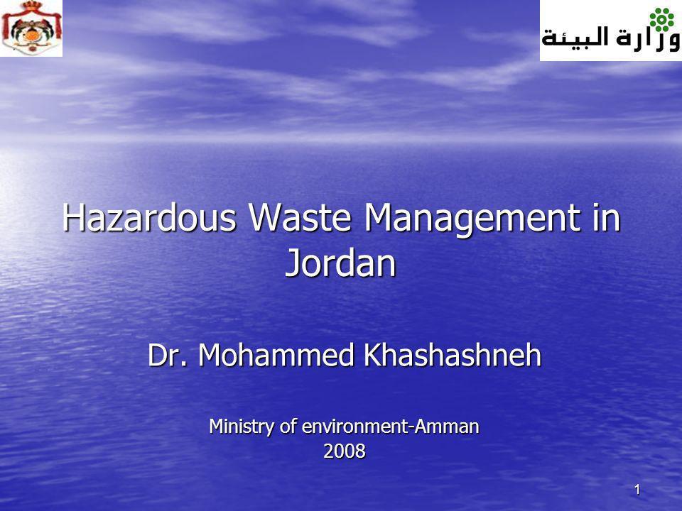 Hazardous Waste Management in Jordan